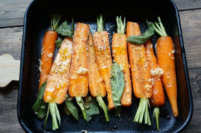печеная морковь
