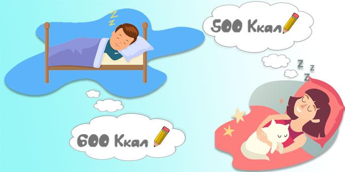 расход калорий во сне