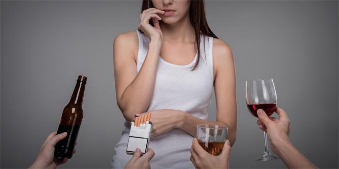 девушка алкоголь и сигареты