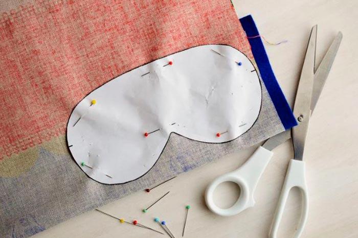 изготовление маски для сна