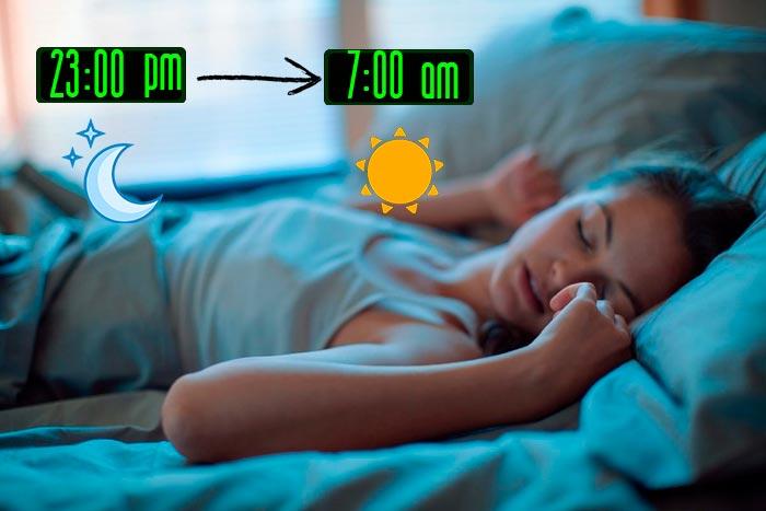 сон с 23 до 7 утра